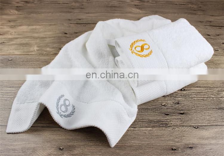 High Quality 5 Star 100% Cotton Terry Hotel Towels With Embroidery Logo