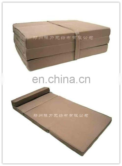 Lightweight polyester fiber mattress portable folding mattress for camping