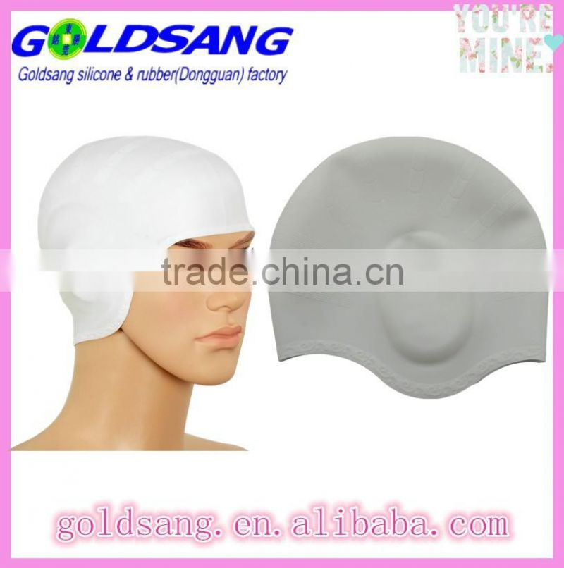 Silicone Swim Caps with Comfort Ear Pockets - Unisex for Men and Women Including Long Hair Swimmers