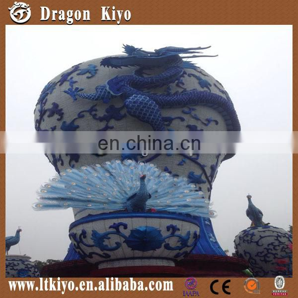 2016 new chinese solar lantern decoration, porcelain lantern