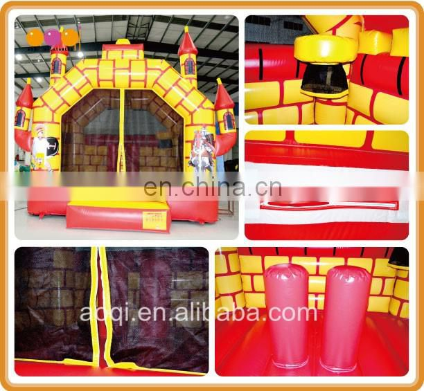 AOQI 0.55mm PVC best china bouncy castles kingdom inflatable jumper bouncer