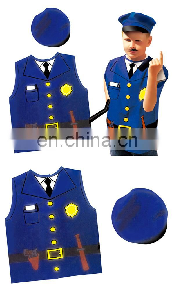 Hot sale kids party police cosplay costumes 3-8 years old