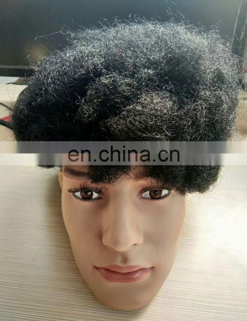 100% human hair Brazilian virgin full lace human hair natural hair black man human hair wig
