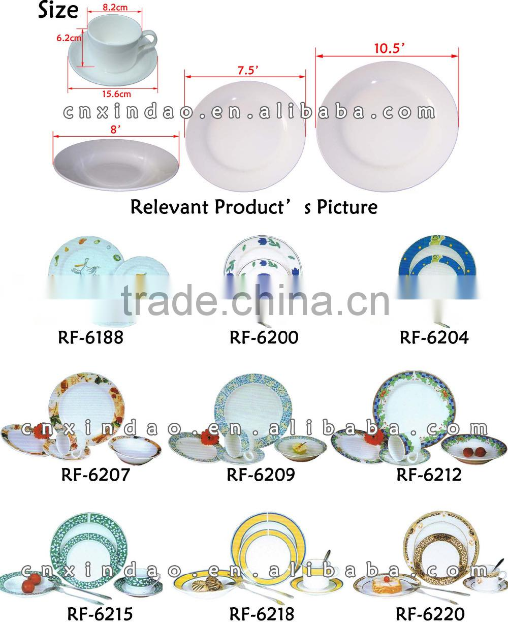 20pcs Round Shape Dailly Used Promotion Unbreakable Ceramic Dinner Set