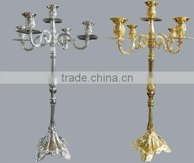 copper plated wedding candelabra
