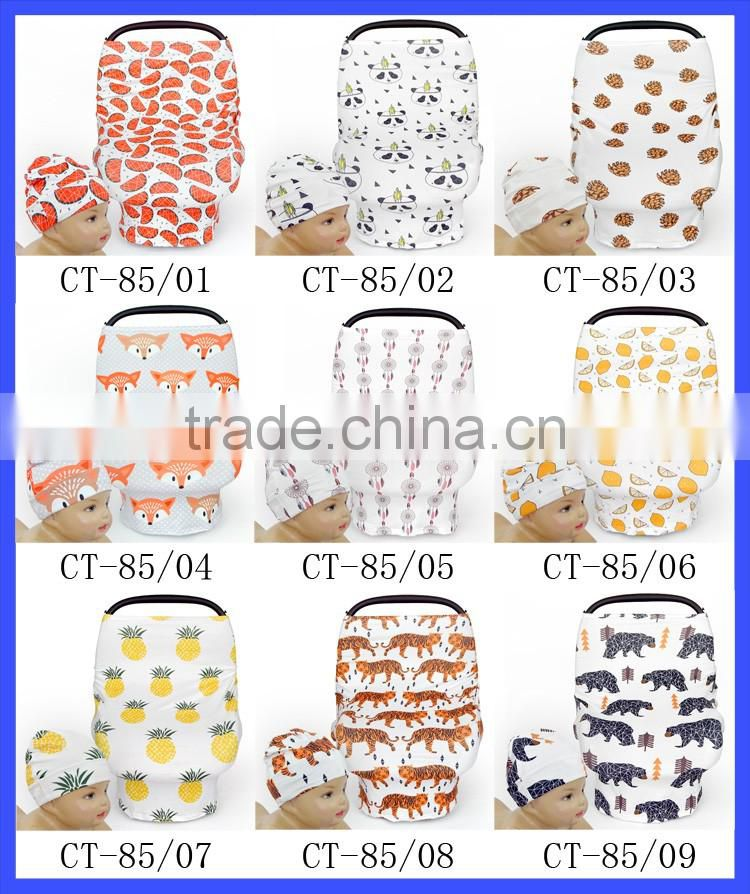 Infant Multipurpose Poncho Car Seat High Chair Shopping Cart Protector Stretch Car Seat Cover Nursing Cover