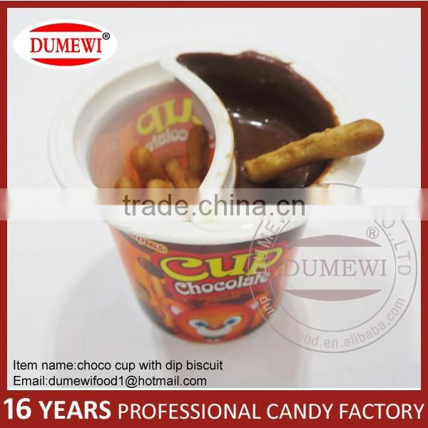 Finger Biscuits Stick with Chocolate Jam Chocolate Cup