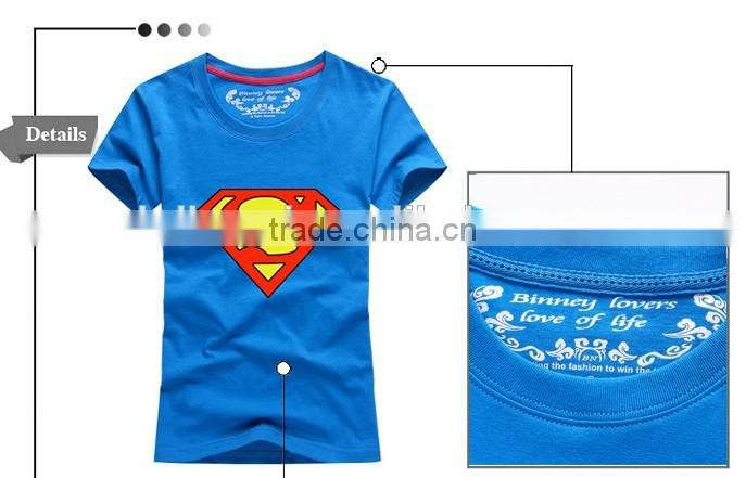 New Cheap Wholesale pure cotton printed t shirt for couples