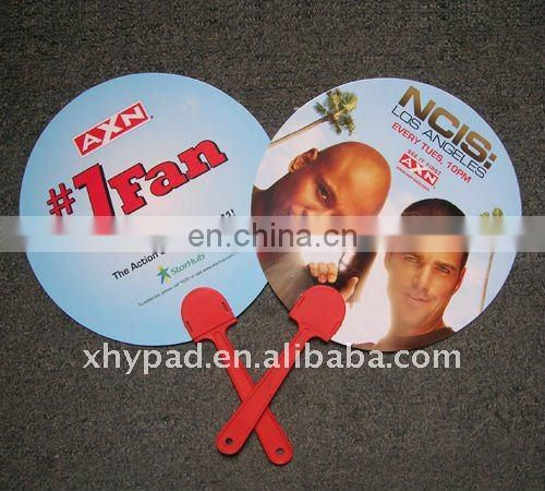small advertising artcard hand fan
