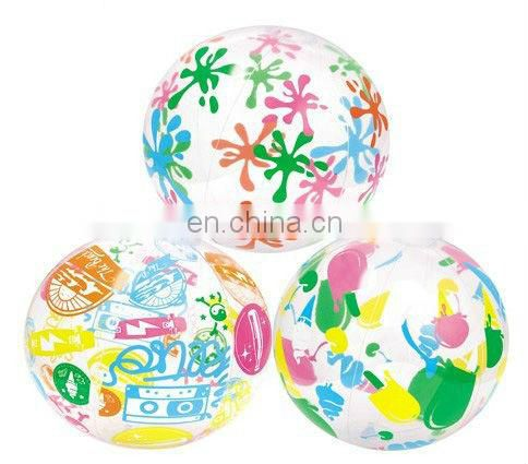 Plastic PVC Inflatable Beach Ball with Logo Printed for Advertising