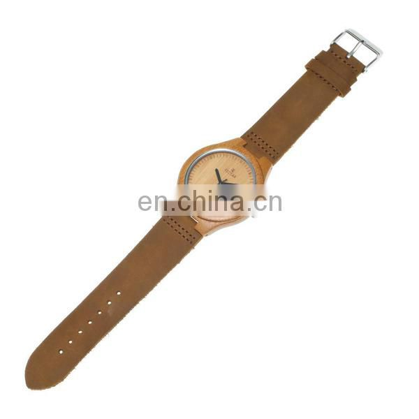 Latest genuine leather watch bamboo watch wooden watch