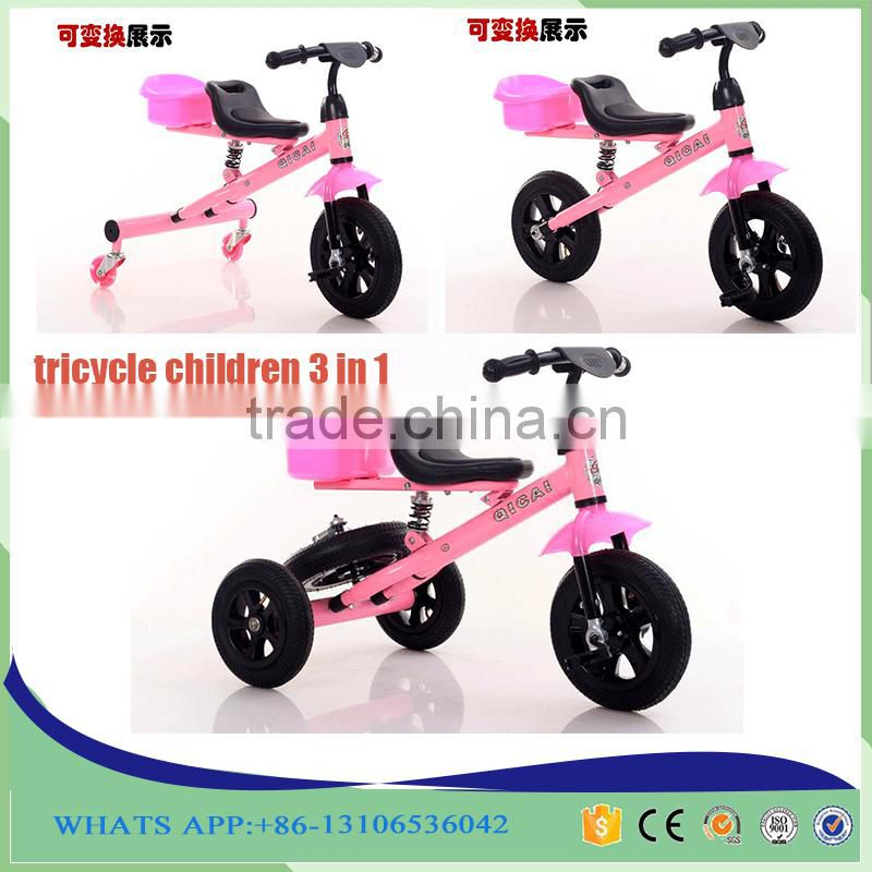 2016 New Model 3 In 1 Baby Tricycle for Kids Tricycle Bike