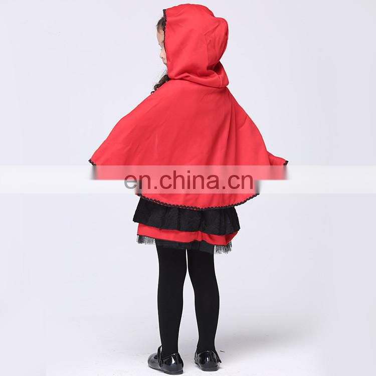 Fctory direct sale halloween style little red riding hood cosplay costume for children