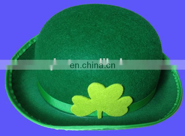 Hot sell top hat st patricks day hat with black feather