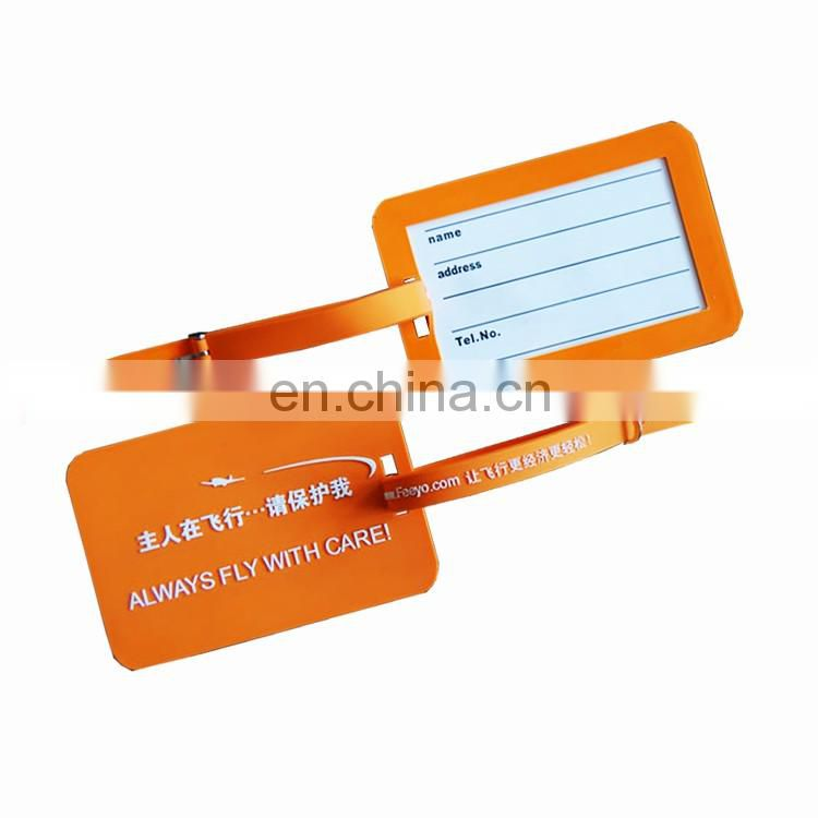Creative reusable pvc baranded picture logo luggage tag