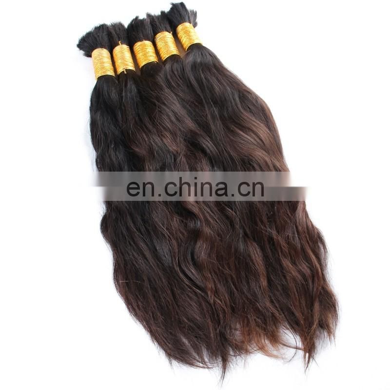Factroy price 14-34inch 1kg Malaysian 8A virgin braid bulk hair bulk human hair wholesale Unprocessed Human Braiding Hair Bulk
