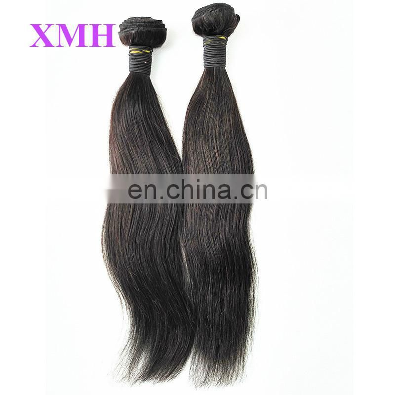 High quality grade 7a wholesale raw unprocessed 100% human Indian virgin hair extension hair