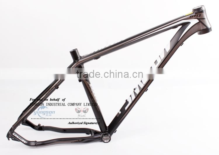 light aluminum alloy 6061 flat welding construction matte aluminum alloy bike frame produced by german electrostatic painting