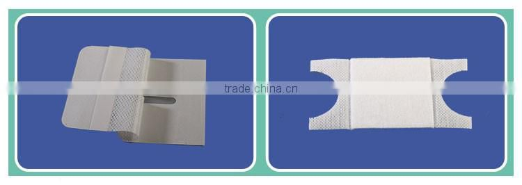 Medical disposable PP non woven isolation gown with knitted cuff & four waist tapes,nonwoven adhesive tape