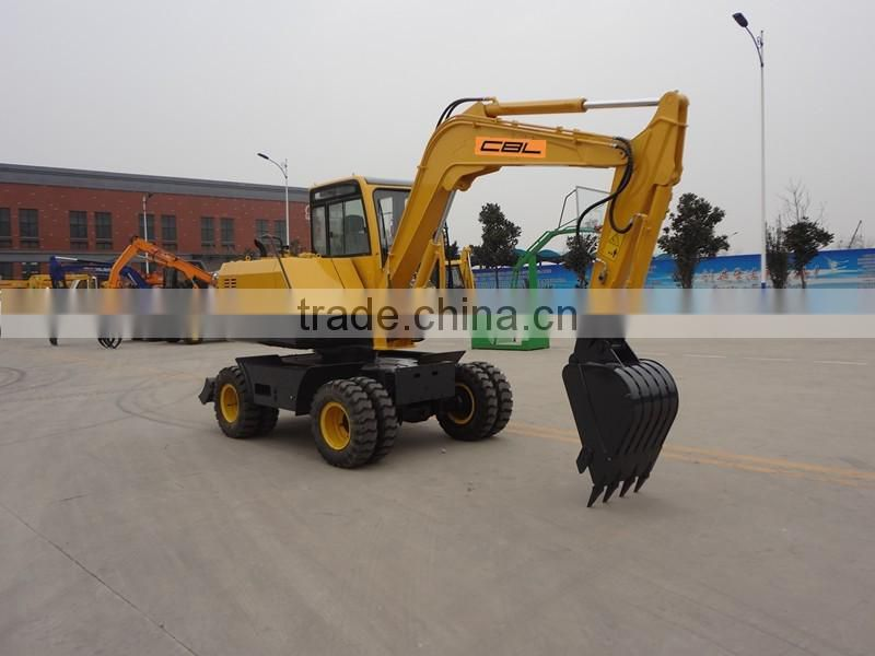 7.5t New Condition Wheel Moving Type excavator
