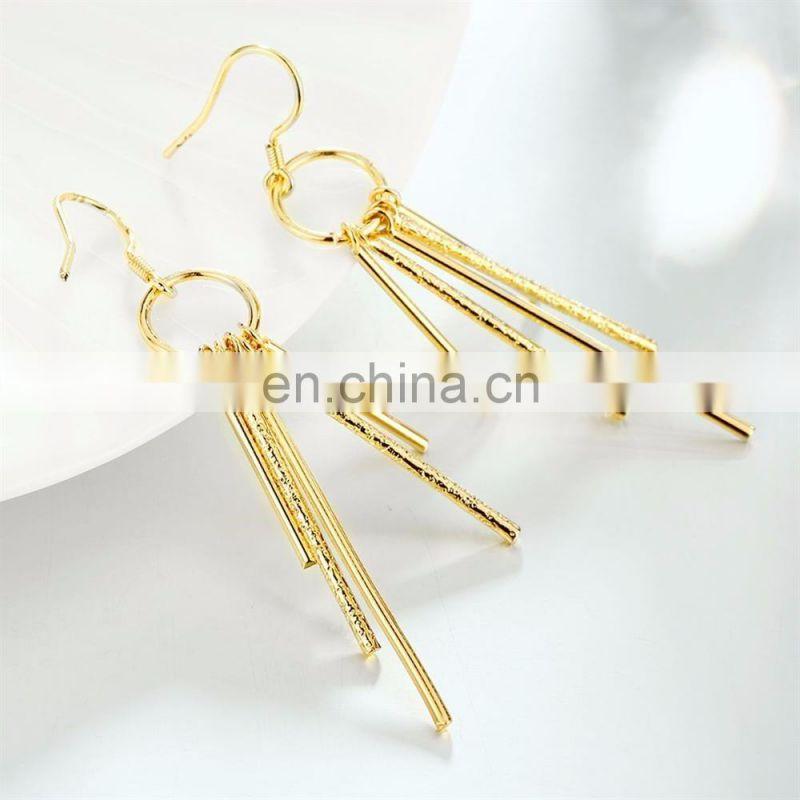 Saudi Gold Silk Thread Earrings Latest Designs of Earrings