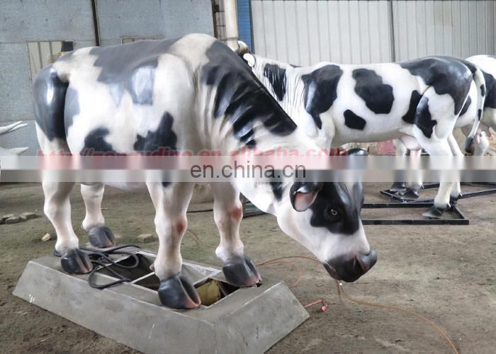 Animal theme park decoration resin life size cow statue