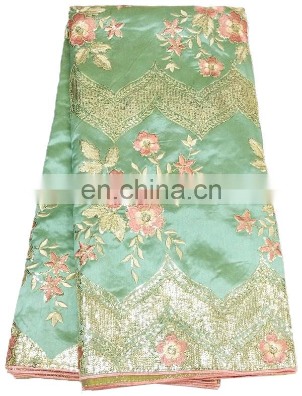 Africdan Silk Lace/ Embroidery George Lace Fabric