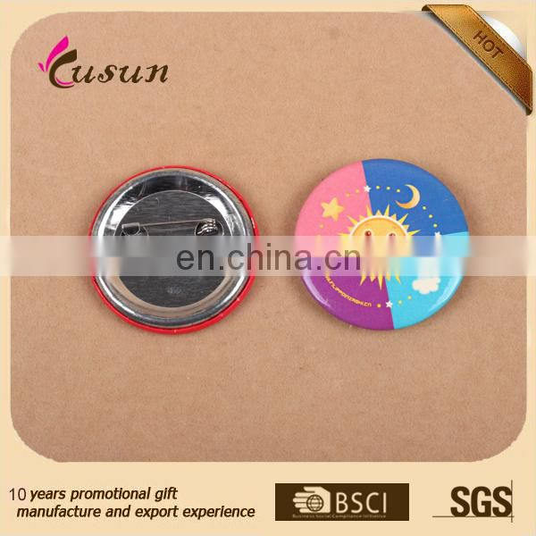 Popular Promotional Gifts Custom Printed Logo Tin Badges Pin Button Badges