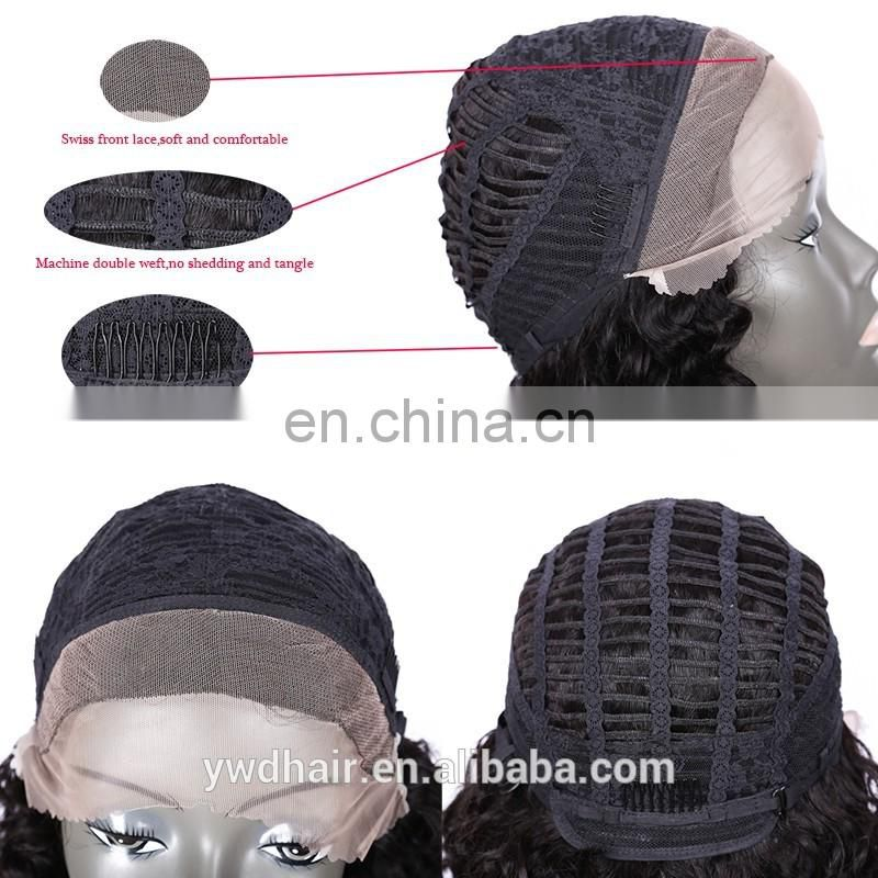 8-26inch Full& Front Lace Human Hair Wigs With baby hair short full lace wigs for black women