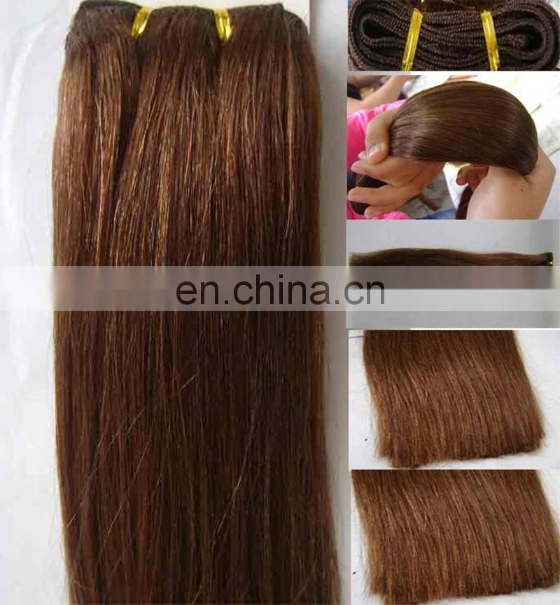 Super quality double drawn human hair bundles remy indian hair full end silky straight hair extensions