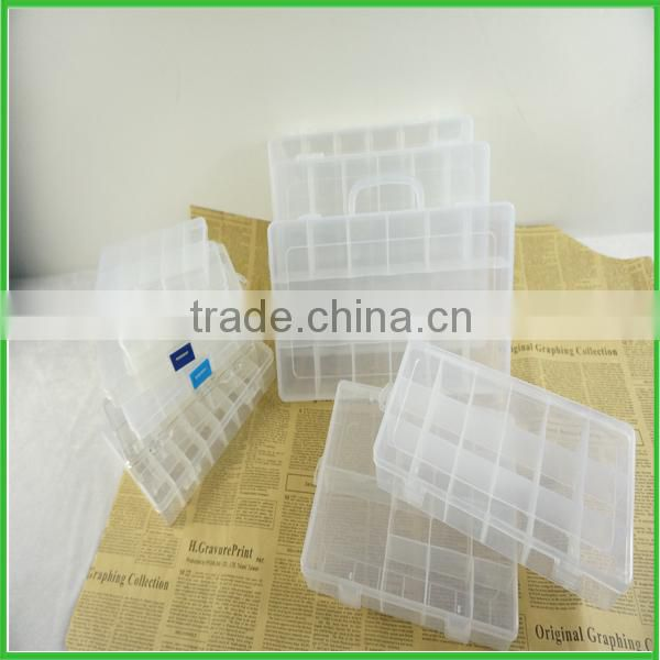christmas gift clear square plastic box with compartment