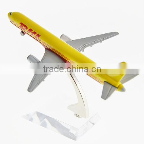 DHL Metal Airplane Model B757 for decoration