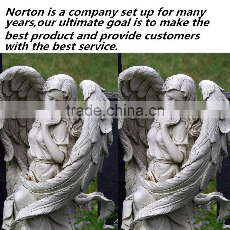 Designs small size standing angel customized headstone for children NTGT-059L