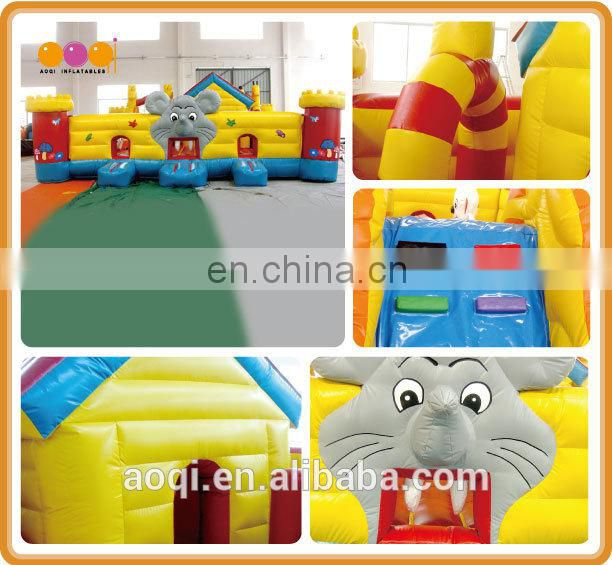 AOQI mouse fun city factory price inflatable fun city kids inflatable amusement park with high quality