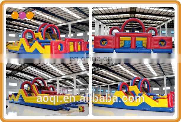 AOQI newly design best sale inflatable paintball obstacle for commercial