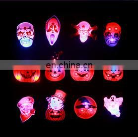 Glowing brooches skulls ghost pumpkin variety shapes halloween brooch pin