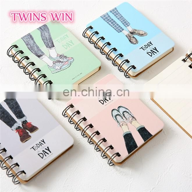 china stationery market 2018 new fashion student cactus design sprial kraft paper hardcover notebook