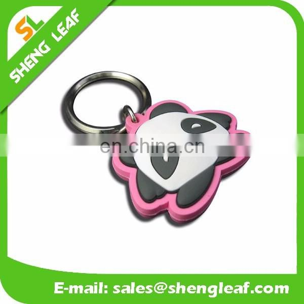 wholesale custom logo soft rubber pvc keychain