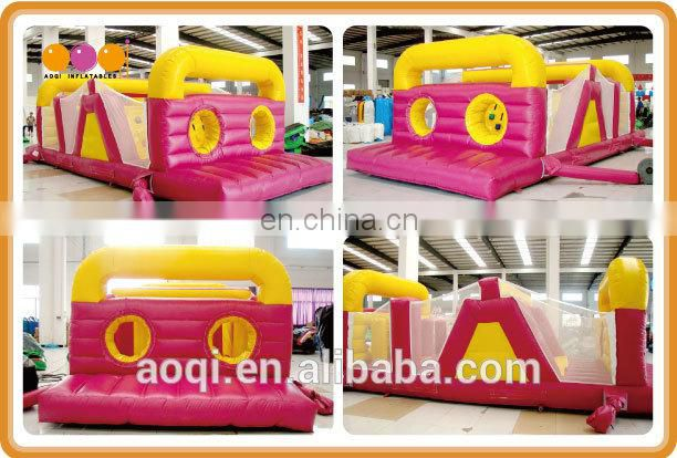 AOQI products inflatable obstacle course toy kingdom product with free EN14960 certificate from China