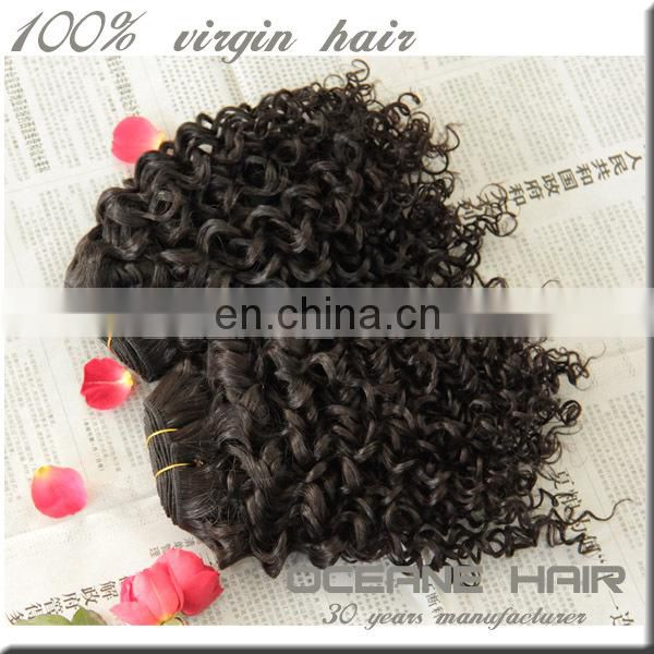 Golden supplier premium quality virgin brazilian jerry curl hair weave
