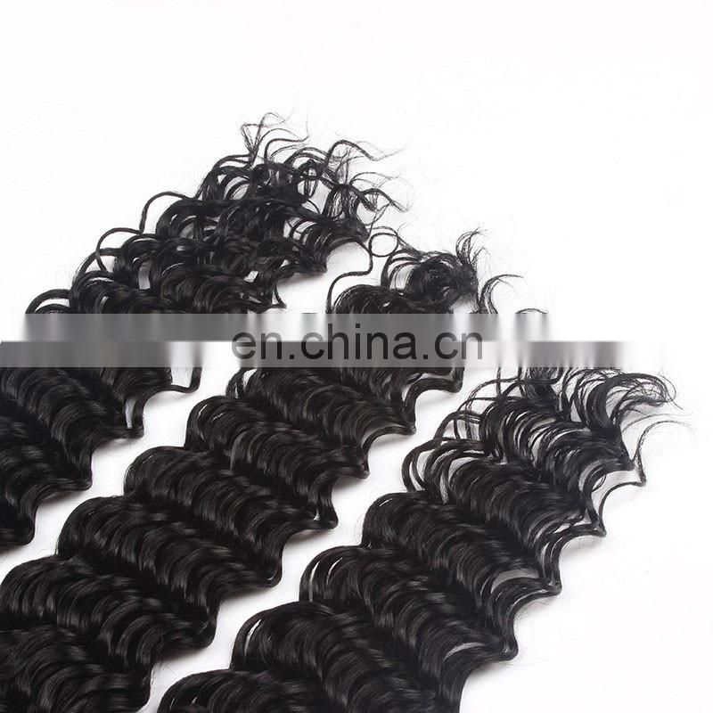 Top quality 7a grade human hair deep wave virgin malaysian hair bundles