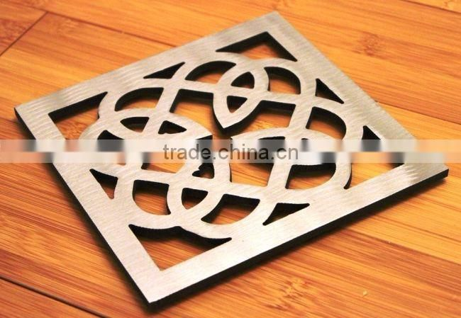 metal nickle plated antique trivet