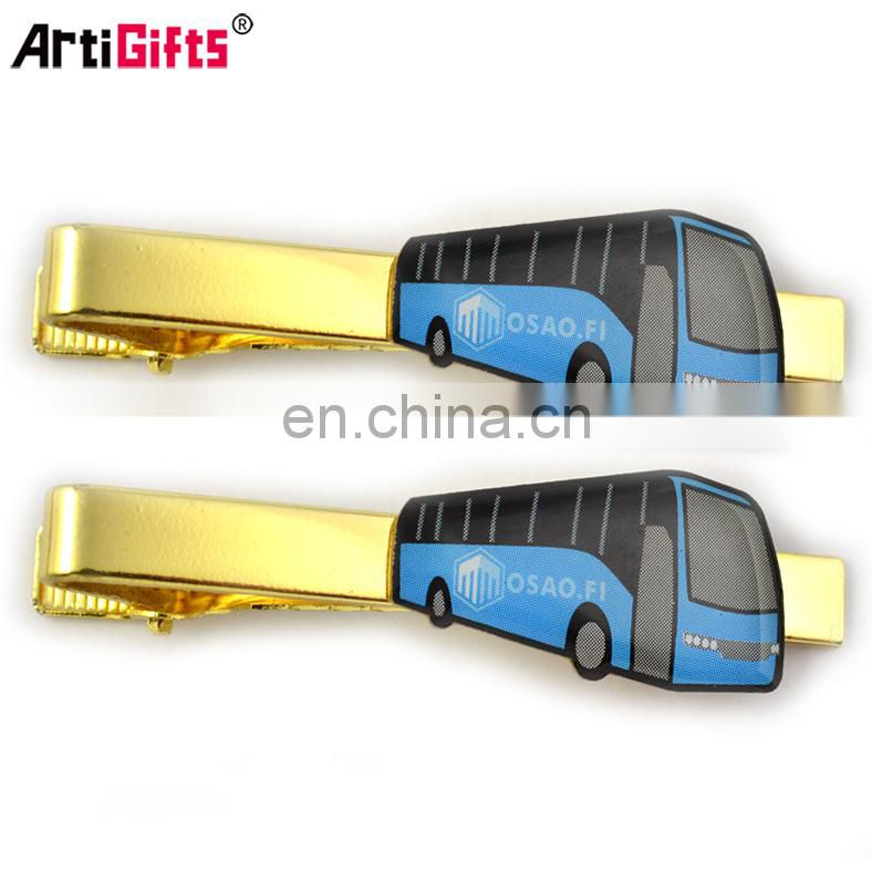 Cheap Gold plated bus metal tie clip