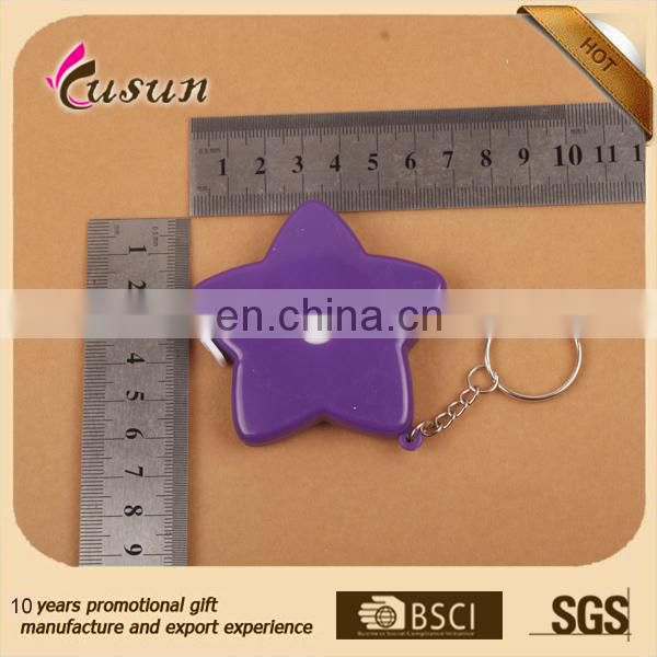 Cheap good quality colorful custom novelty mini tape measure keychain