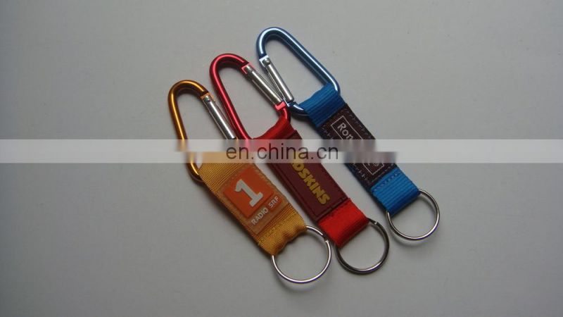 aluminum carabiner with short strap