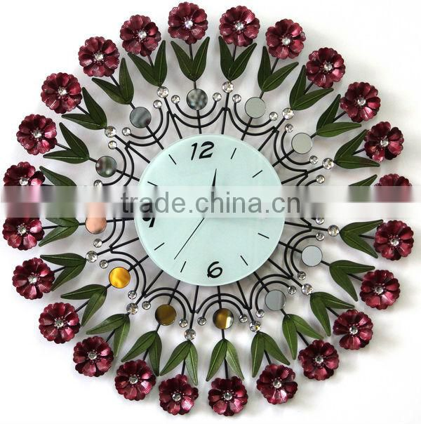 High quality beautiful metal wall clocks for sale