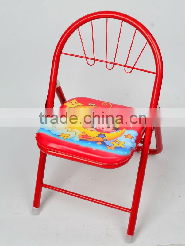 metal tube and plastic plate baby foldable chair