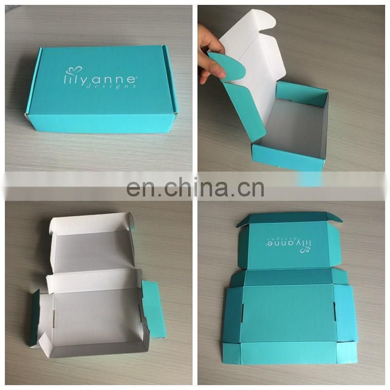 Free Design Making Folding Corrugated Board Teal Printing Shipping Box ,Mailing/Mail Box