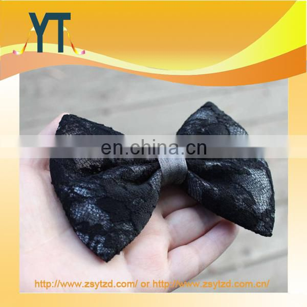 Beauty Pure Grey Medium Size Hair Bow For Girl From China ali Baba Supplier