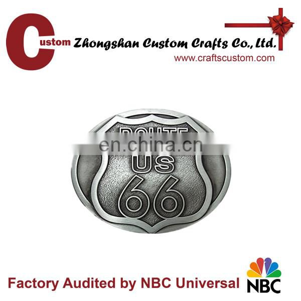 Quality cheap Custom zinc alloy brand buckle custom metal belt buckle